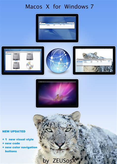 themes for windows 7 ultimate 32 bit macos x for windows 7 32bit by zeusosx on deviantart