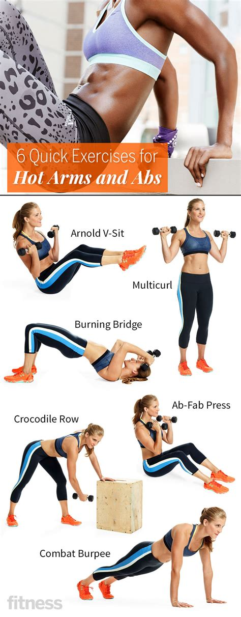 6 exercises for arms and abs fitness magazine