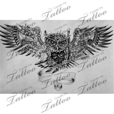 mechanical owl tattoo 1000 ideas about steunk design on