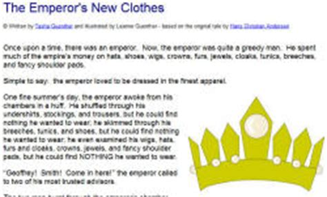 new year emperor story the emperor s new clothes