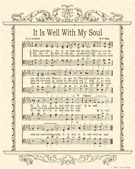 printable lyrics it is well with my soul it is well with my soul