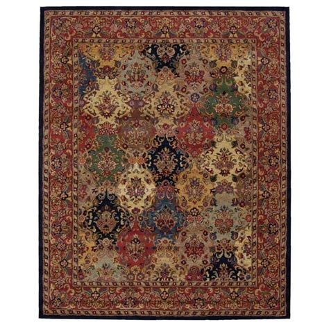 Area Rugs From India Shop Nourison India House Multicolor Rectangular Indoor Handcrafted Area Rug Common 8