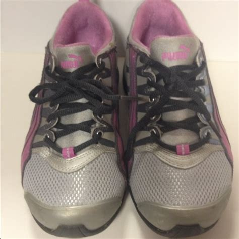 56 shoes tennis shoes gray pink size 6 1