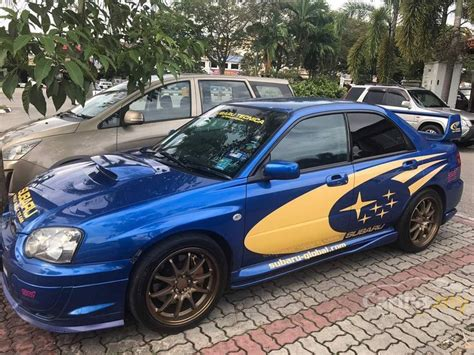 subaru sedan 2004 subaru impreza 2004 wrx sti 2 0 in johor manual sedan blue