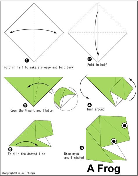 Origami Frog Tutorial - 1000 ideas about origami frog on 3d origami