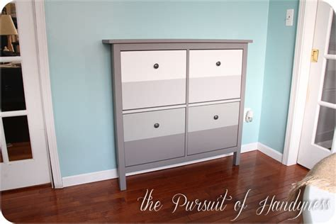stall shoe cabinet hack love the ombre ikea hemnes hack home organization