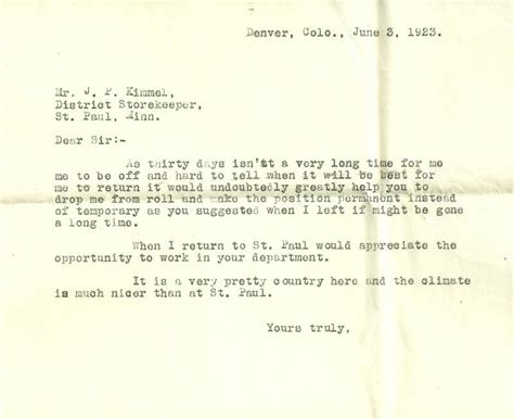 Permission Letter For Excursion The Narrow Circle Excursion 2 Working In Eureka Colorado 1923