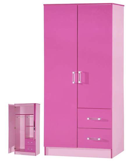 marina high gloss combi wardrobe 2 door 2 drawer gloss