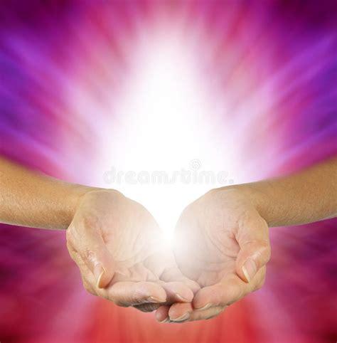 purple magenta healing energy stock photo image