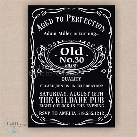 30th birthday invitations templates free whiskey bourbon bottle inspired birthday or