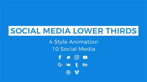 social media lower thirds motion graphics templates