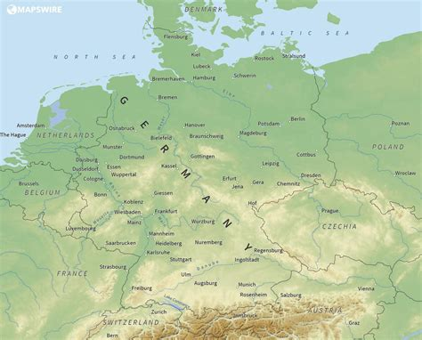 large map of germany free maps of germany mapswire