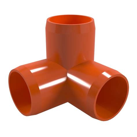 formufit 1 2 in furniture grade pvc 3 way in orange