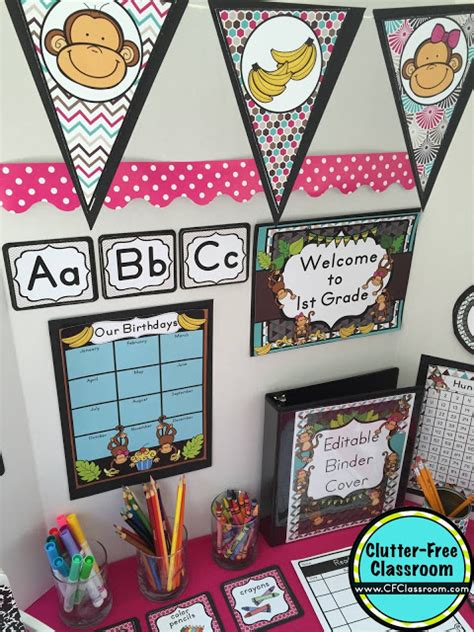 monkey themed classroom decorations monkey themed classroom ideas printable classroom