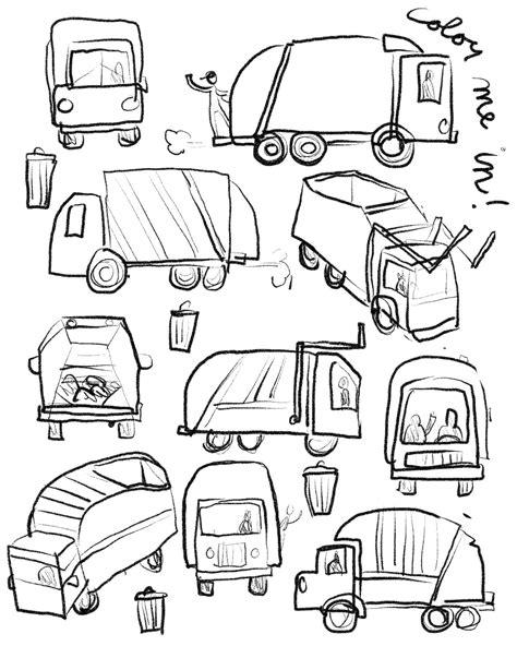 Trash Truck Drawing