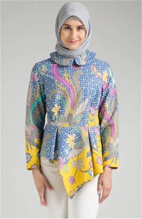 Atasan Motip Lucu kumpulan model baju batik wanita berhijab paling mencuri perhatian