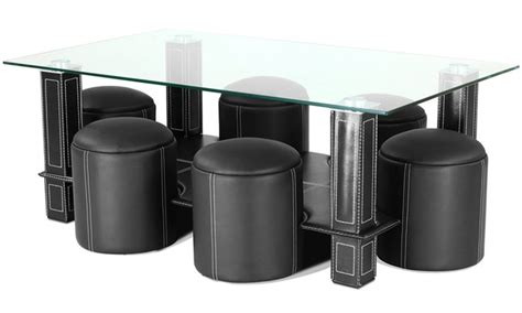Table Basse A 189 by Table Basse Avec 6 Poufs Groupon Shopping