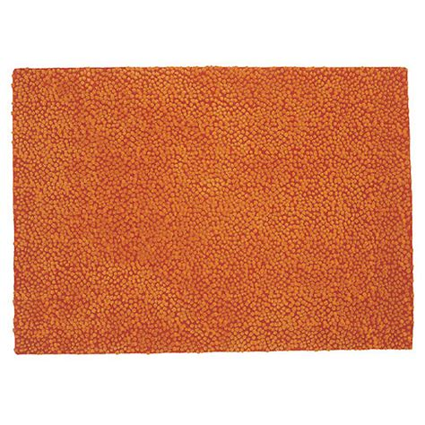 Orange Modern Rug by Nanimarquina Topissimo Simple Orange Modern Rug Stardust