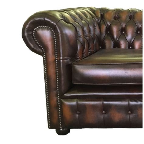 2 seater real leather sofa chesterfield antique brown genuine leather two seater sofa