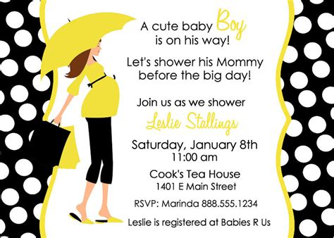 Instant Download Blank Baby Shower Invitation Mommy Silhouette Yellow And White Baby Shower Invitation Templates