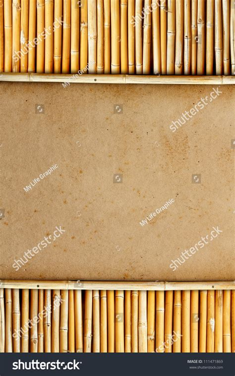 How To Make Paper Out Of Bamboo - paper with bamboo background stock photo 111471869