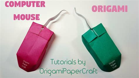 How To Make A Origami Computer - how to make an origami computer mouse chuột m 225 y t 237 nh
