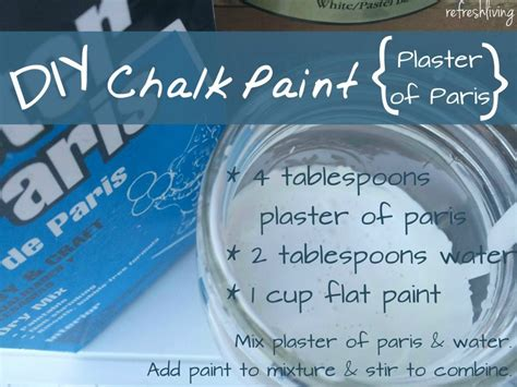 chalk paint recipe using plaster of the best diy chalk paint recipe refresh living