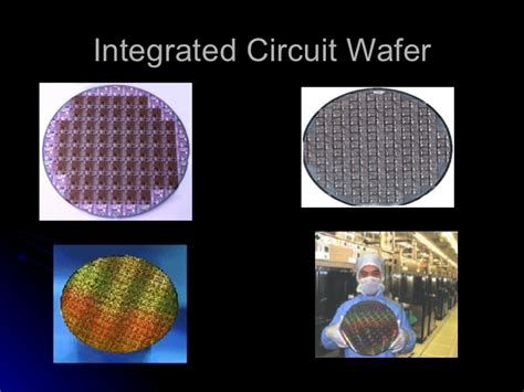 integrated circuits wafers integrated circuit wafer