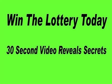 If You Win The Lottery Can You Give Money Away - quot how to win the lottery quot 30 second video winning powerball strategy youtube