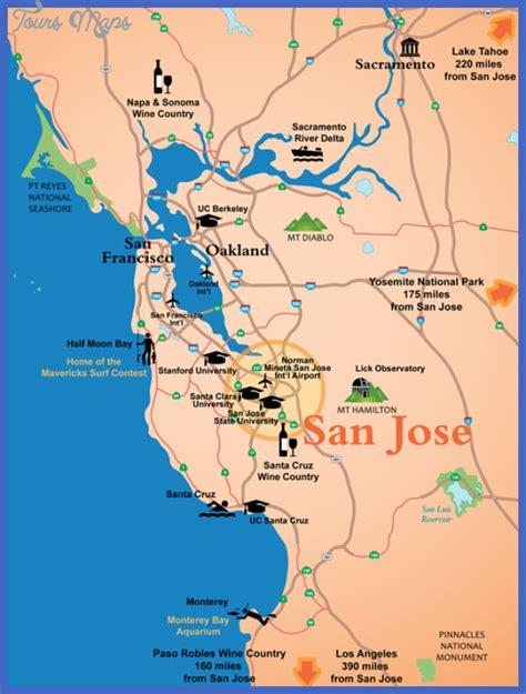 san jose carpool map san jose map toursmaps