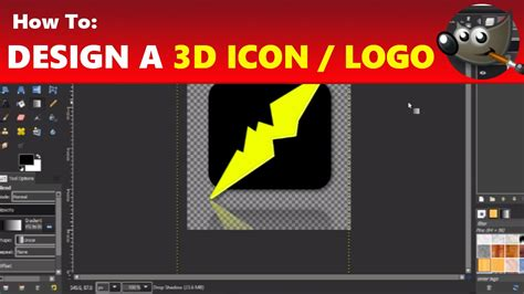 design a logo in gimp how to design a 3d logo icon in gimp using gimp