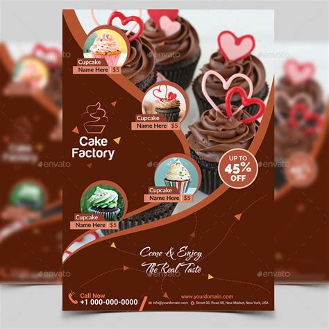 cake flyer template free cupcake flyer template v2 by aam360 graphicriver
