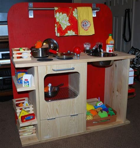 homemade play kitchen ideas diy play kitchen craft ideas pinterest