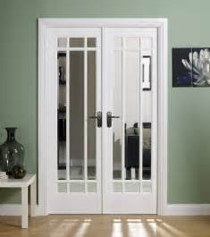 Hardwood Patio Set Manhattan White Primed Internal French Doors With Clear