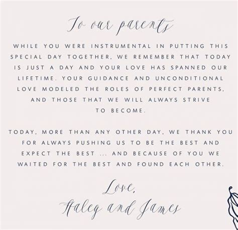 Parent Gift Letter Best 25 Parent Wedding Gifts Ideas On