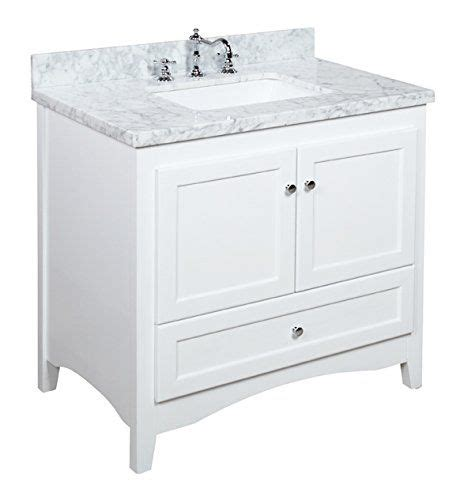 Bathroom Vanity Hinges 36 Inch White Bathroom Vanity Carrara White Includes A Soft Drawer Self Closing