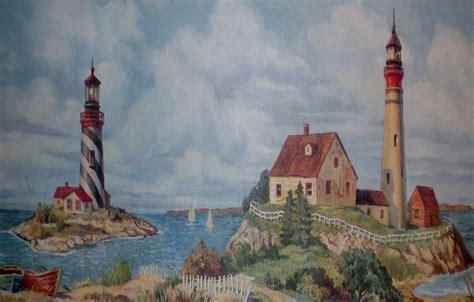 lighthouse for bathroom nautical lighthouse wallpaper border for bathrooms bathroom wallpaper borders cheap