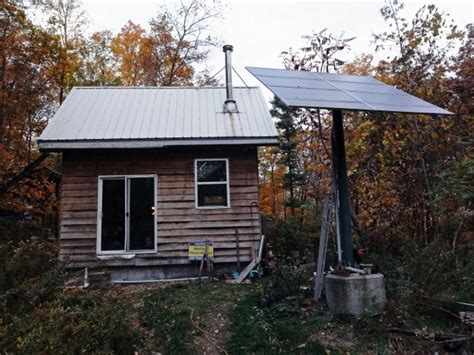 off grid solar tiny cabin with yurt guest house