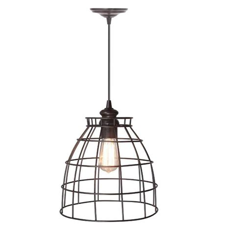 Home Decorators Collection Lighting by Home Decorators Collection Dovecote 1 Light Bronze Pendant