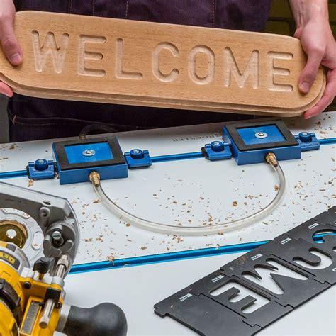 rockler vacuum clamp pod kit rockler woodworking