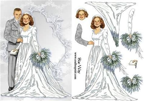 Wedding Decoupage - vintage wedding day card front and dcoupage pergamano