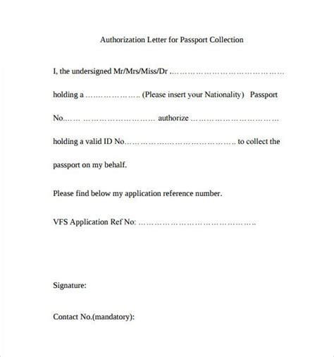 sle cover letter for of documents sle passport authorization letter free documents pdf