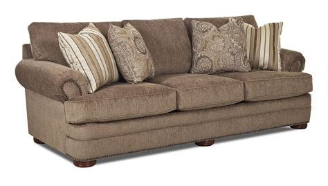 nailhead trim sectional traditional sofa with rolled arms and nailhead trim by