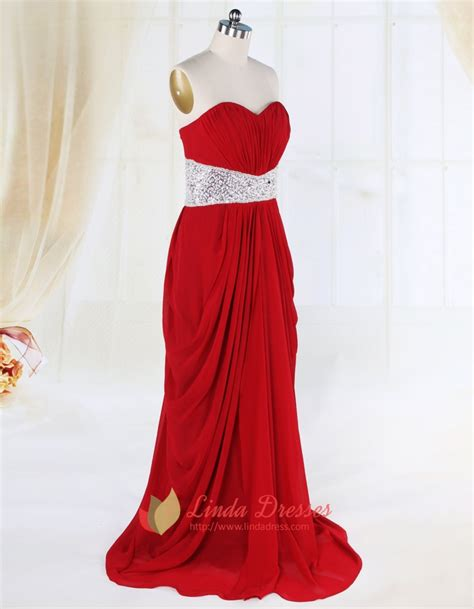draped prom dress side draped red prom dresses open back long red evening