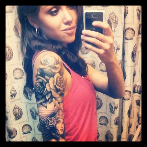 rose tattoo sleeve girl 17 best images about tattoos on black tattoos