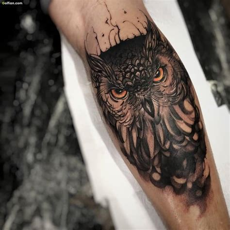 owl face tattoo 70 coolest forearm tattoos design and ideas gallery
