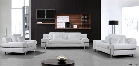 Modern White Leather Couches by Clef Modern White Leather Sofa Set