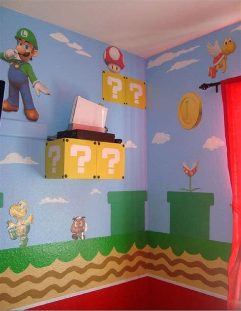super mario bedroom ideas super mario bros bedroom chambre kyllian pinterest