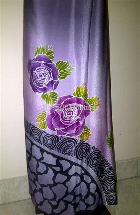 design batik lukis batik sutera terengganu batik lukis eksklusif corak bunga