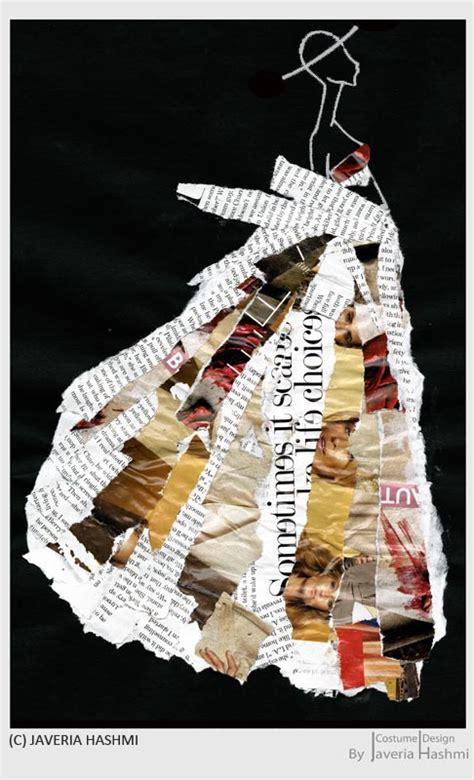 collage fashion illustration by javeria hashmi at coroflot